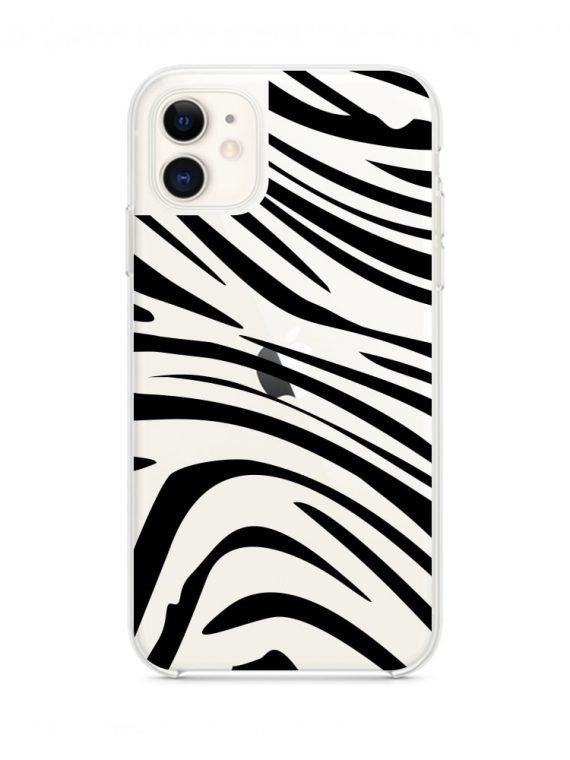 Mock U Iphone 11 Przezrocyste Z Nadrukiem Zebra1