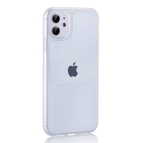 Etui do iPhone 12 Mini silikonowe elastyczne przeźroczyste Window case
