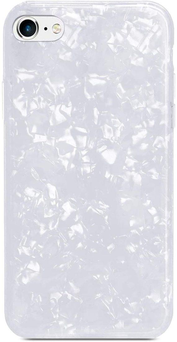 Etui do iPhone SE2020/8/7 muszla perłowa biała