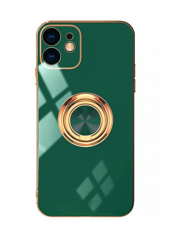 etui iphone 12 luksusowe zlota ramka zielony 12