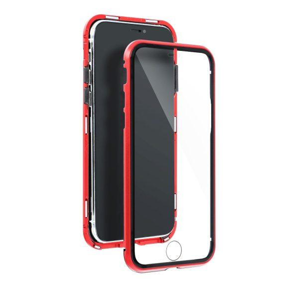 Obudowa pancerna szkło hartowane przód+tył magnetyczna do iPhone 12 Pro czerwona