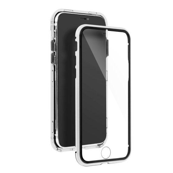 Obudowa pancerna szkło hartowane przód+tył magnetyczna do iPhone 12 srebrna