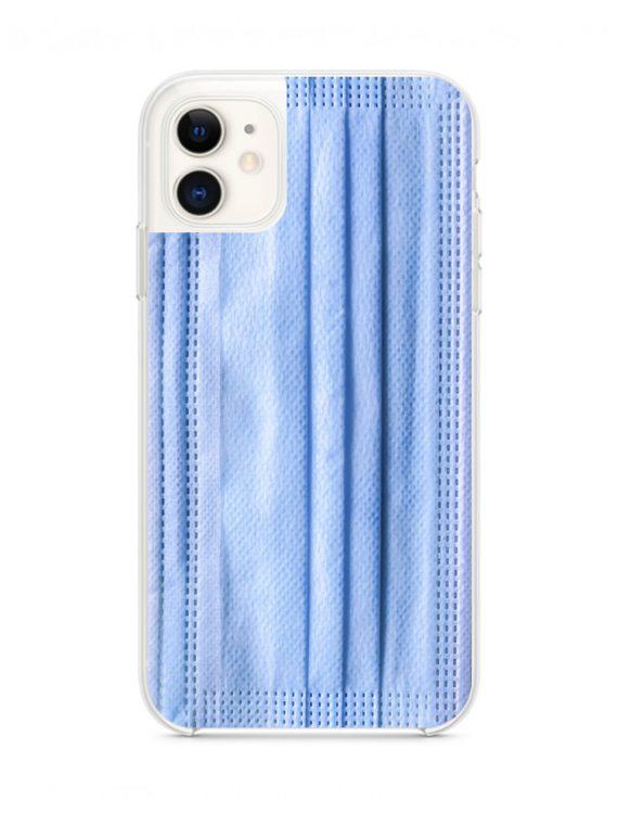 mock u iphone 11 przezrocyste z nadrukiem maseczka1