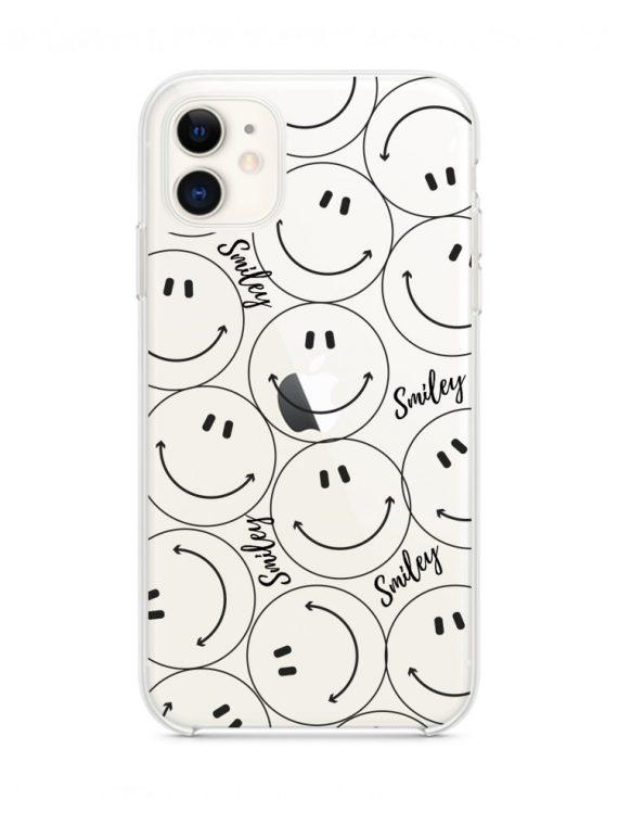 mock u iphone 11 przezrocyste z nadrukiem smiley1