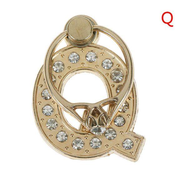 Personalizowany uchwyt ring selfie do telefonu w kształcie literki Q