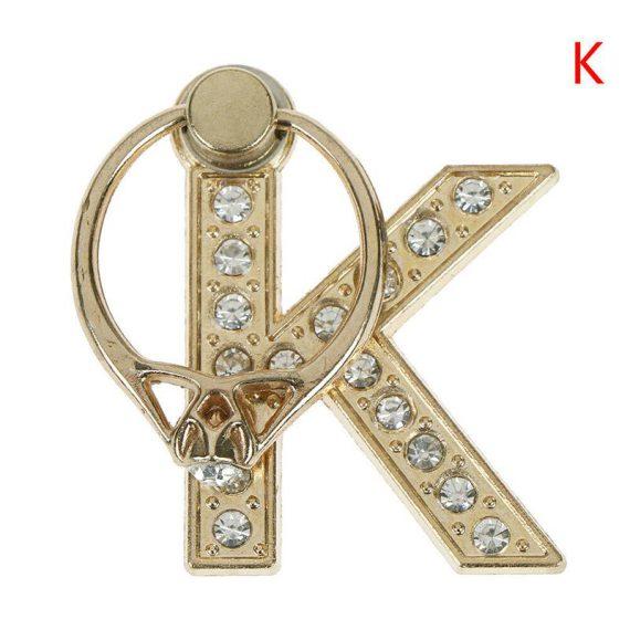 Personalizowany uchwyt ring selfie do telefonu w kształcie literki K