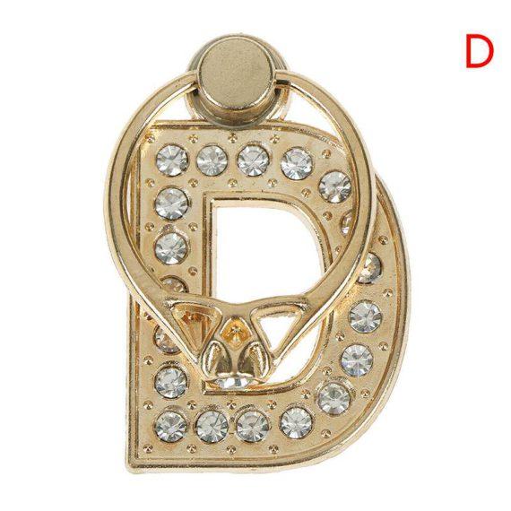 Personalizowany uchwyt ring selfie do telefonu w kształcie literki D