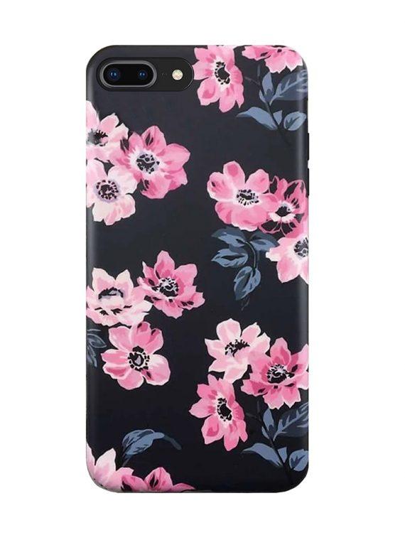 iphone 7 iphone 8 iphone se 2 black case pink flowers toronto canada popncases