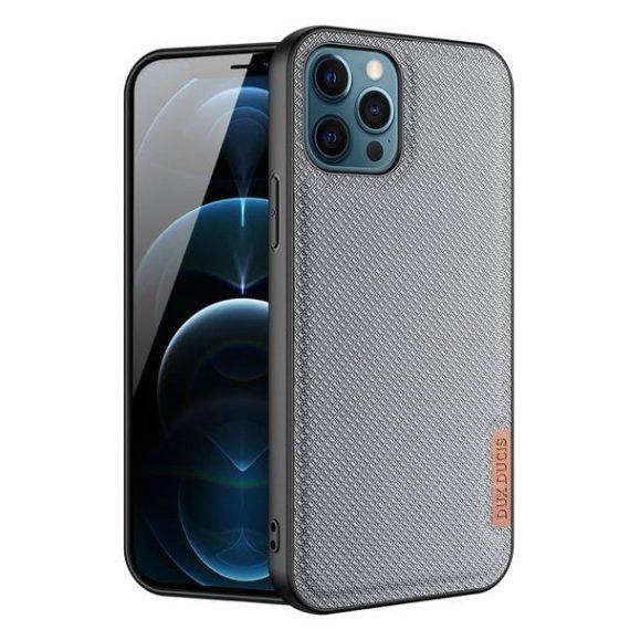 Etui do iPhone 12 Pro materiałowe niebrudzące niebieskie eleganckie