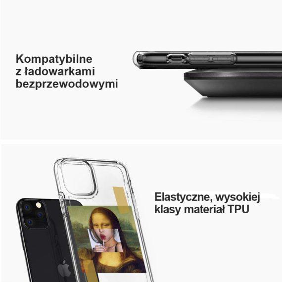 mock u iphone 11 przezroczyste z nadrukiem mona3