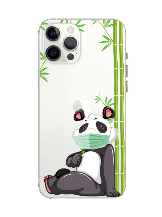 mock u iphone 12 pro przezrocyste z nadrukiem panda1