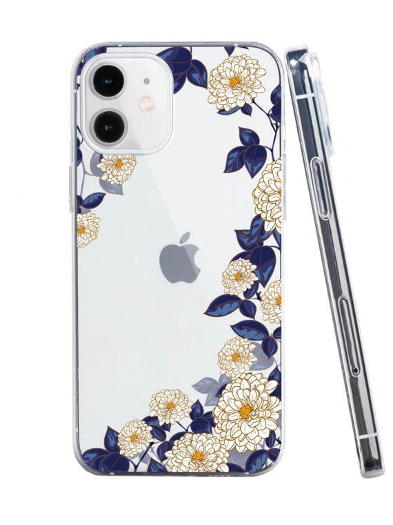 mock u iphone 12 przezrocyste z nadrukiem listki1