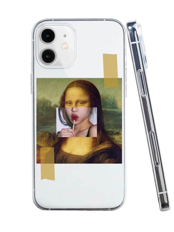 mock u iphone 12 przezrocyste z nadrukiem mona1