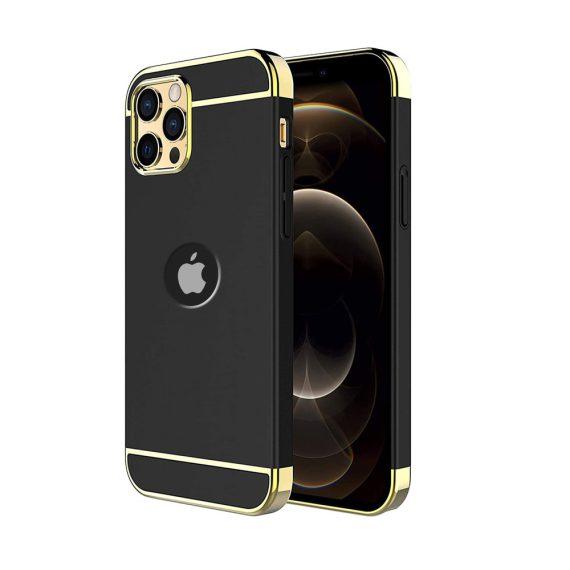Etui do 12 Pro eleganckie cienkie z widocznym logo czarno-złote