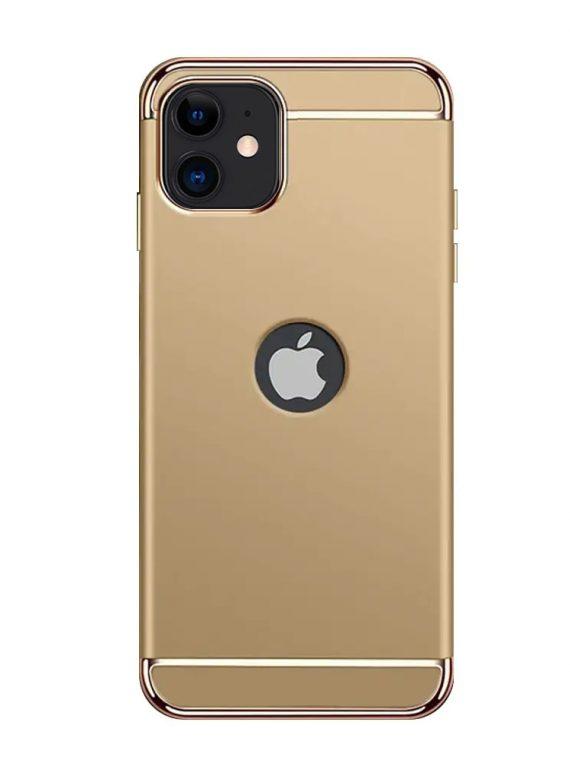 etui do iphone 12 eleganckie cienkie z widocznym logo złote