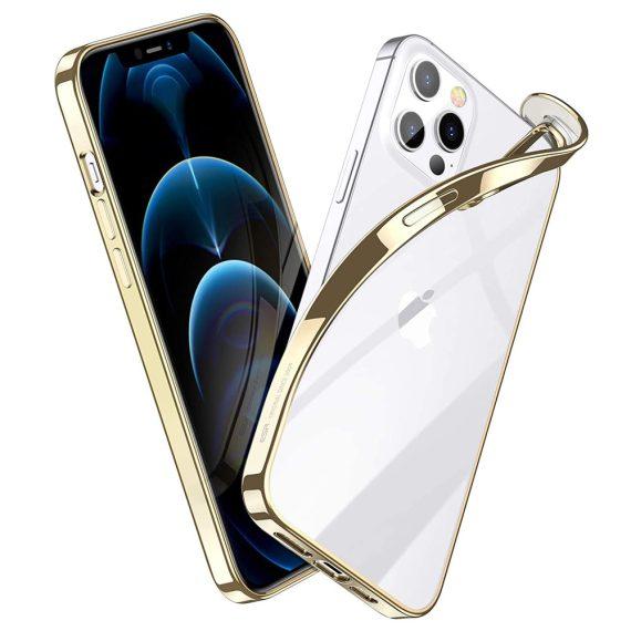 case iphone 12 pro max ze złotą ramką 10