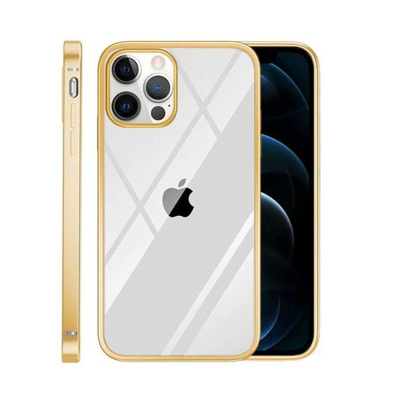 case iphone 12 pro max ze złotą ramką 2