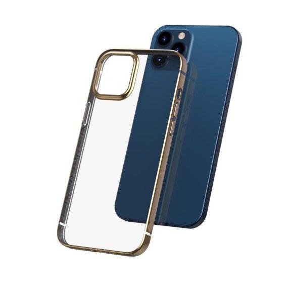 case iphone 12 pro max ze złotą ramką 5