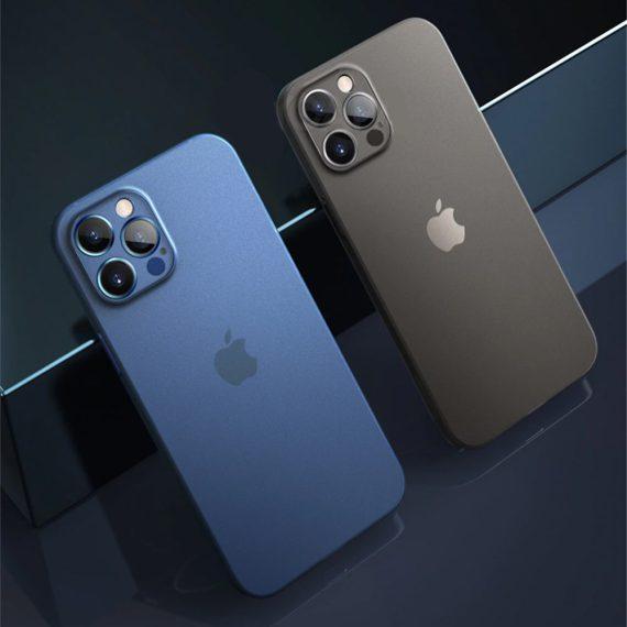 etui iphone 12 pro 12 pro max niebieskie matowe przezroczyste 1