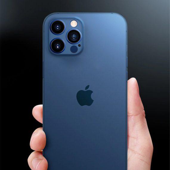 etui iphone 12 pro 12 pro max niebieskie matowe przezroczyste 2