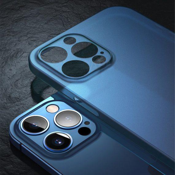 etui iphone 12 pro 12 pro max niebieskie matowe przezroczyste 3