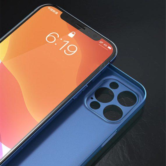 etui iphone 12 pro 12 pro max niebieskie matowe przezroczyste 4