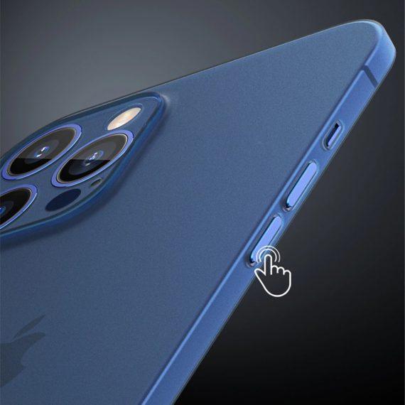 etui iphone 12 pro 12 pro max niebieskie matowe przezroczyste 5