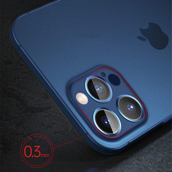etui iphone 12 pro 12 pro max niebieskie matowe przezroczyste 6