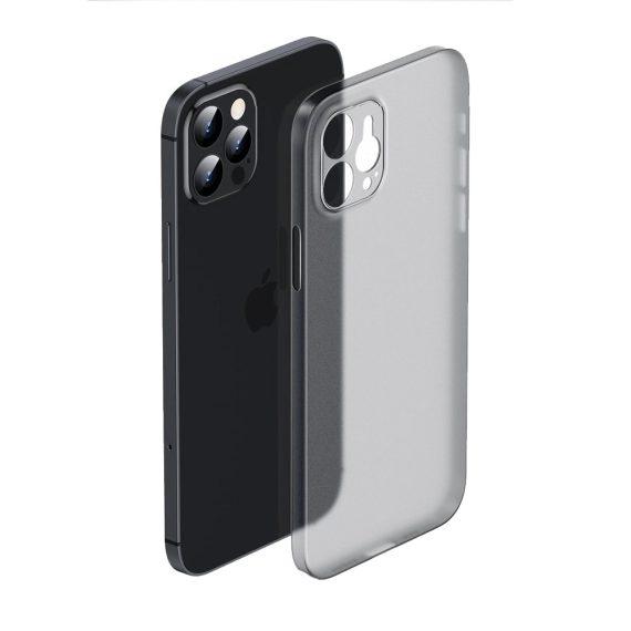 Etui do iPhone 12 Pro Max cienkie półprzezroczyste smoked skin shield
