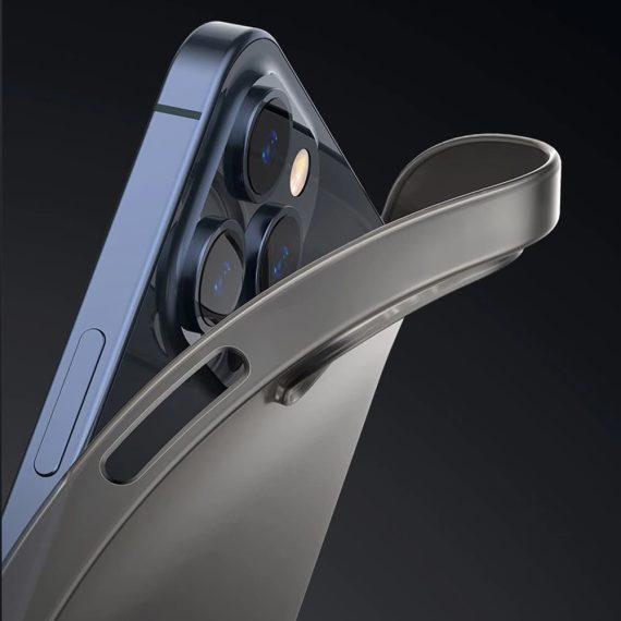 etui iphone 12 pro max szare matowe przezroczyste 9