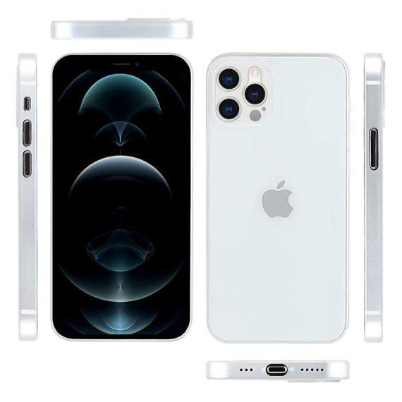 etui iphone 12 pro białe matowe przezroczyste 10
