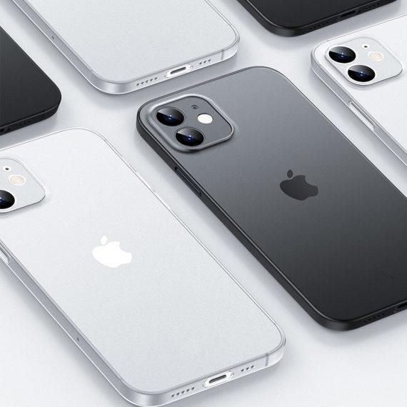 etui iphone 12 pro białe matowe przezroczyste 2