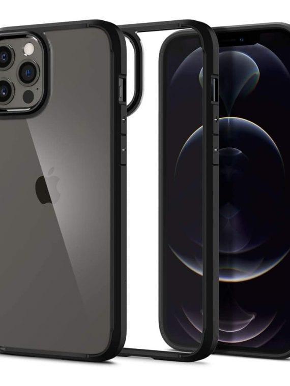 etui iphone 12 pro czarna ramka wzrocnione krawędzie bumper 1