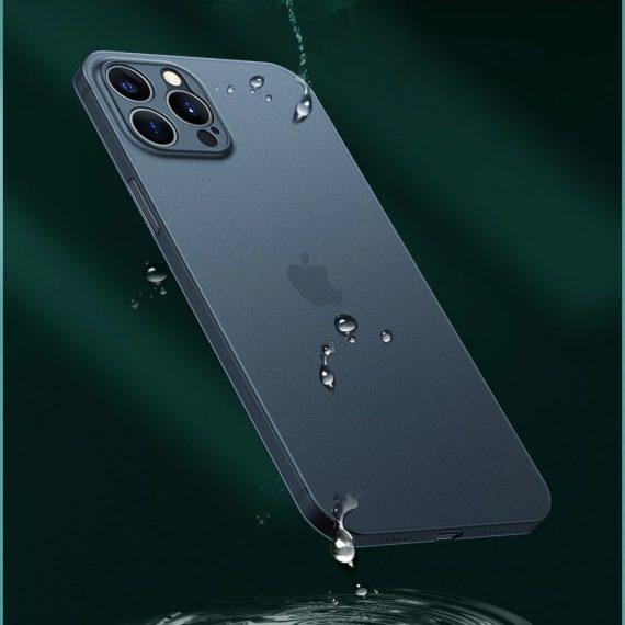 etui iphone 12 pro niebieskie matowe przezroczyste 5