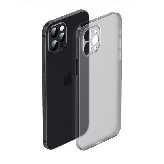 Etui do iPhone 12 Pro cienkie półprzezroczyste smoked skin shield