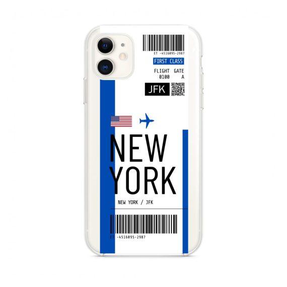 mock u iphone 11 przezroczyste z nadrukiem bilet1