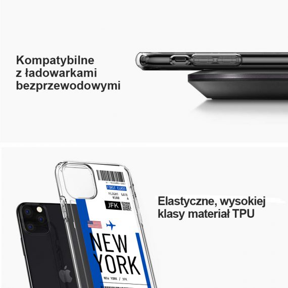 mock u iphone 11 przezroczyste z nadrukiem bilet3