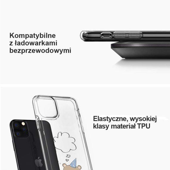 mock u iphone 11 przezroczyste z nadrukiem mis3