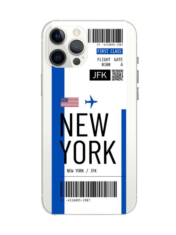 mock u iphone 12 pro przezrocyste z nadrukiem bilet1