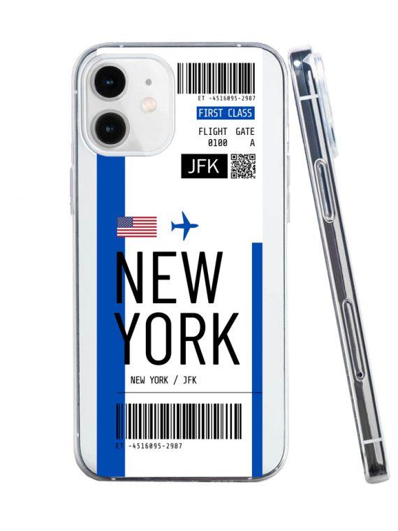 mock u iphone 12 przezrocyste z nadrukiem bilet1