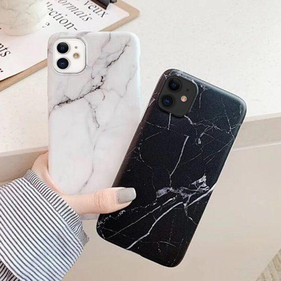 pol pm wozinsky marble zelowe etui pokrowiec marmur iphone 11 bialy 55209 5 1