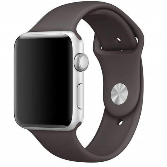 Sportowy pasek silikonowy do zegarka Apple Watch SE/6/5/4/3 42/44mm – stalowy