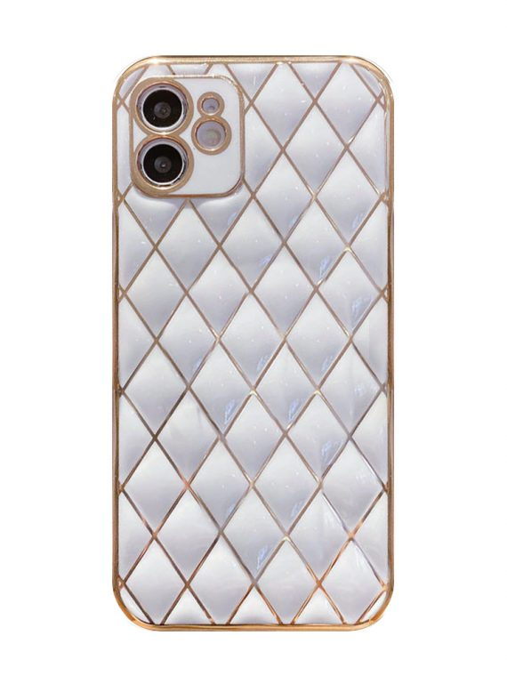 case iphone z białym złotem ochrona aparatu 6