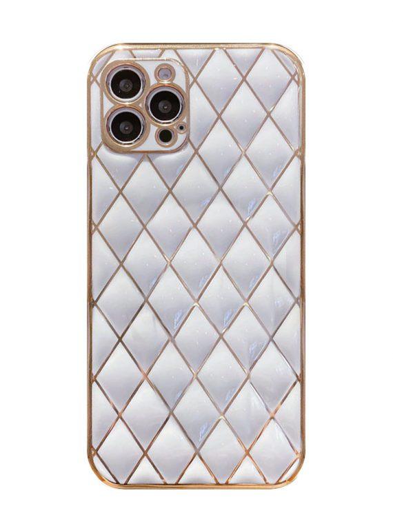 case iphone 12 pro z białym złotem ochrona aparatu 6