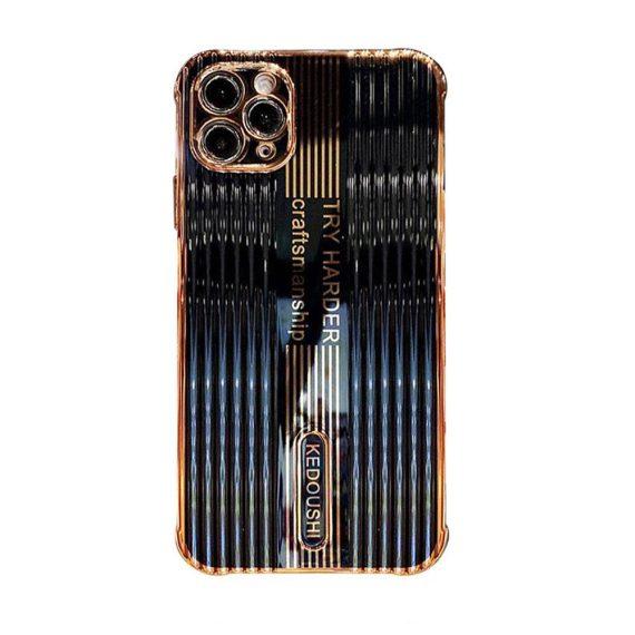 Etui do iPhone 12 Pro czarny, złoty KEDOUSHI original z osłoną aparatu