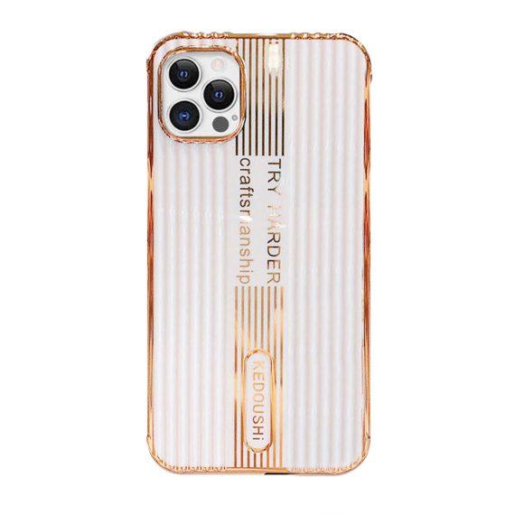 Etui do iPhone 12 Pro biały, złoty KEDOUSHI original