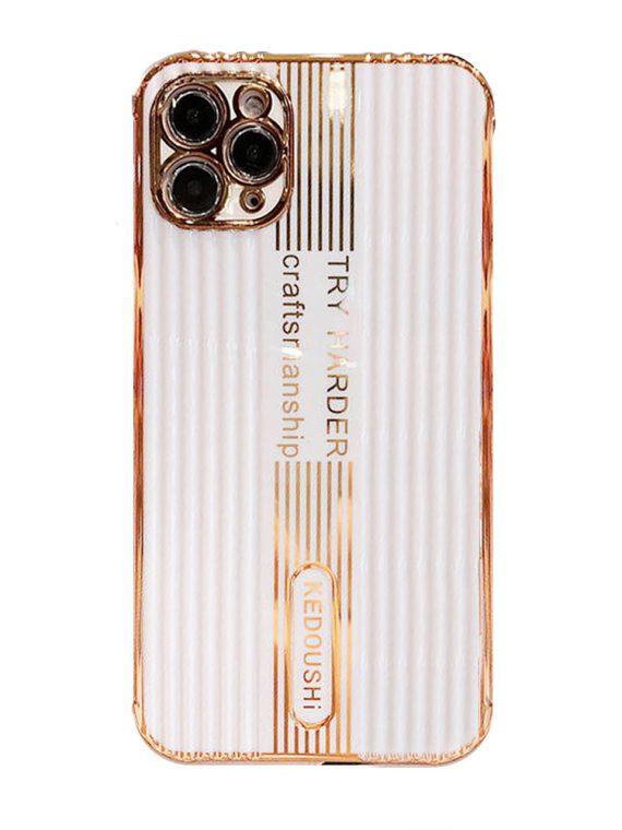 etui iphone 12 pro kedoushi białe ze złotem i napisami 1