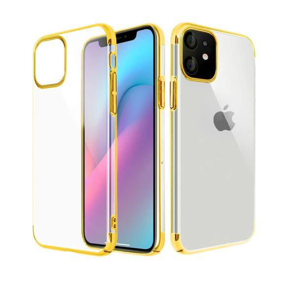 Etui do iPhone 11 Fit Slim cienkie przezroczyste ze złotą ramką