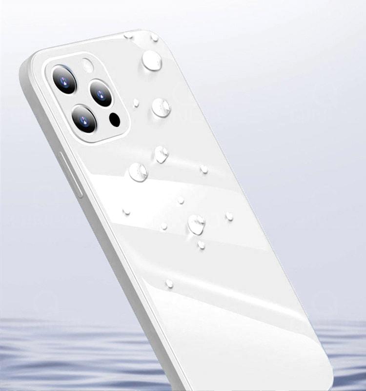 case ihphone 12 pro szklo hartowane biały kolor 4