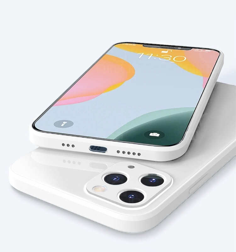 case ihphone 12 pro szklo hartowane biały kolor 5